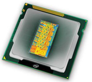 Prozessor Ansicht von oben (Quelle: Intel)