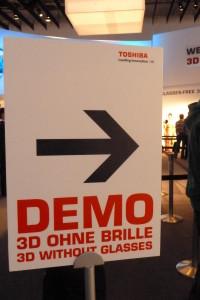 Hier geht's Richtung Zukunft: 3D ohne Brille