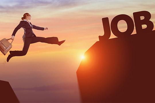 überzeugende Karriereseite Job Flutlicht Karrierefrau Karrieresprung