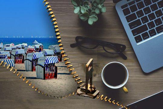 Agentur-Karriere Work-Life-Balance Arbeit Strand Strandkörbe