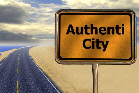 Blogger Authentizität Glaubwürdigkeit Straßenschild