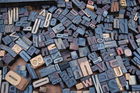 Digitale Trends 2017 Buchstaben Druckbuchstaben