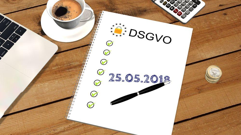 DSGVO Datum Schreibtisch Liste