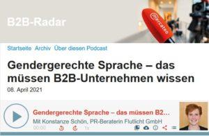 Flutlicht Leitfaden Gendergerechte Sprache B2b Radar Podcast