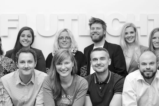 Flutlicht Teamfoto