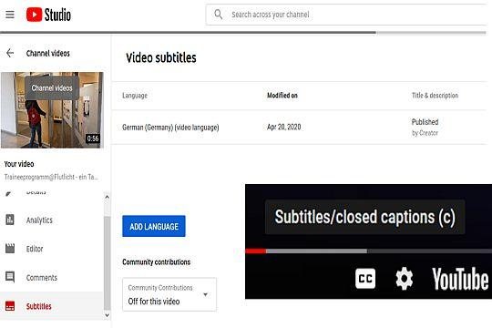 Flutlicht Youtube Marketing Tipps Youtube Subtitles