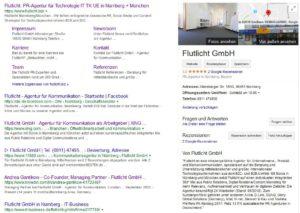 Flutlicht Google My Business Serp Keywording