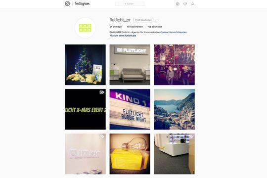 Instagram Flutlicht Agentur