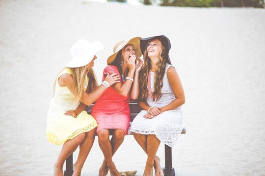 Markenwahrnehmung Emotion Strand Mädchen Frauen Chatten