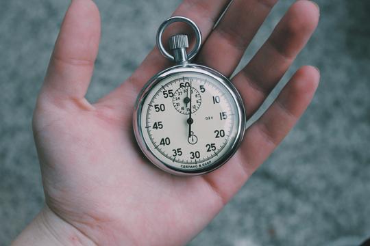 Markenwahrnehmung Timing Stoppuhr Zeit Hand
