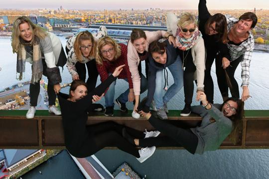 PR-Einstieg Flutlicht Amsterdam Lookout Photofun