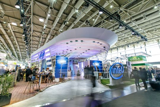 PR Fotos Intel Messestand