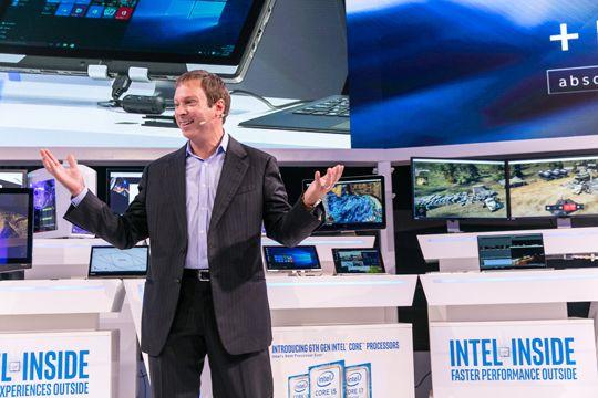 Präsentation auf einer Pressekonferenz Bühne Set-up