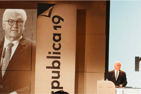 Rückblick re:publica 2019, Frank-Walter Steinmeier