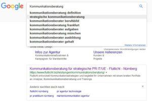Serp Keyword Recherche Kommunikationsberatung
