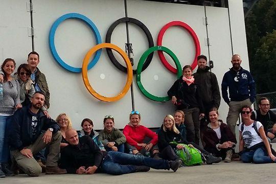 Tolle Kollegen Sprungschanze Garmisch Olympia Team Teamgeist