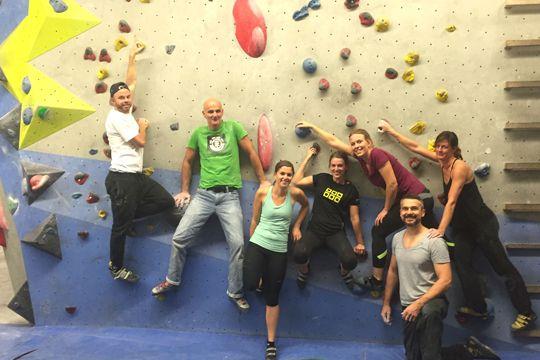 Tolle Kollegen Freizeit Sport Bouldern Teamspirit Team