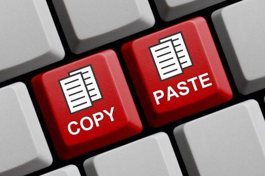 Urheberrecht Copy Paste Tasten