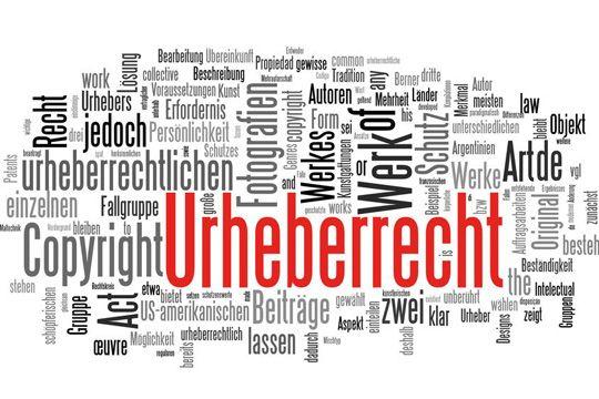 Urheberrecht Tagcloud