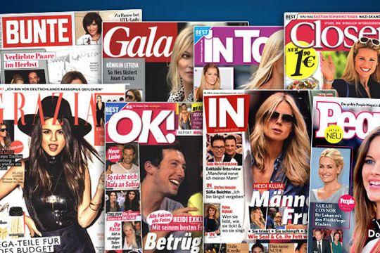 Urlaubslektüre Celebrities Boulevardpresse