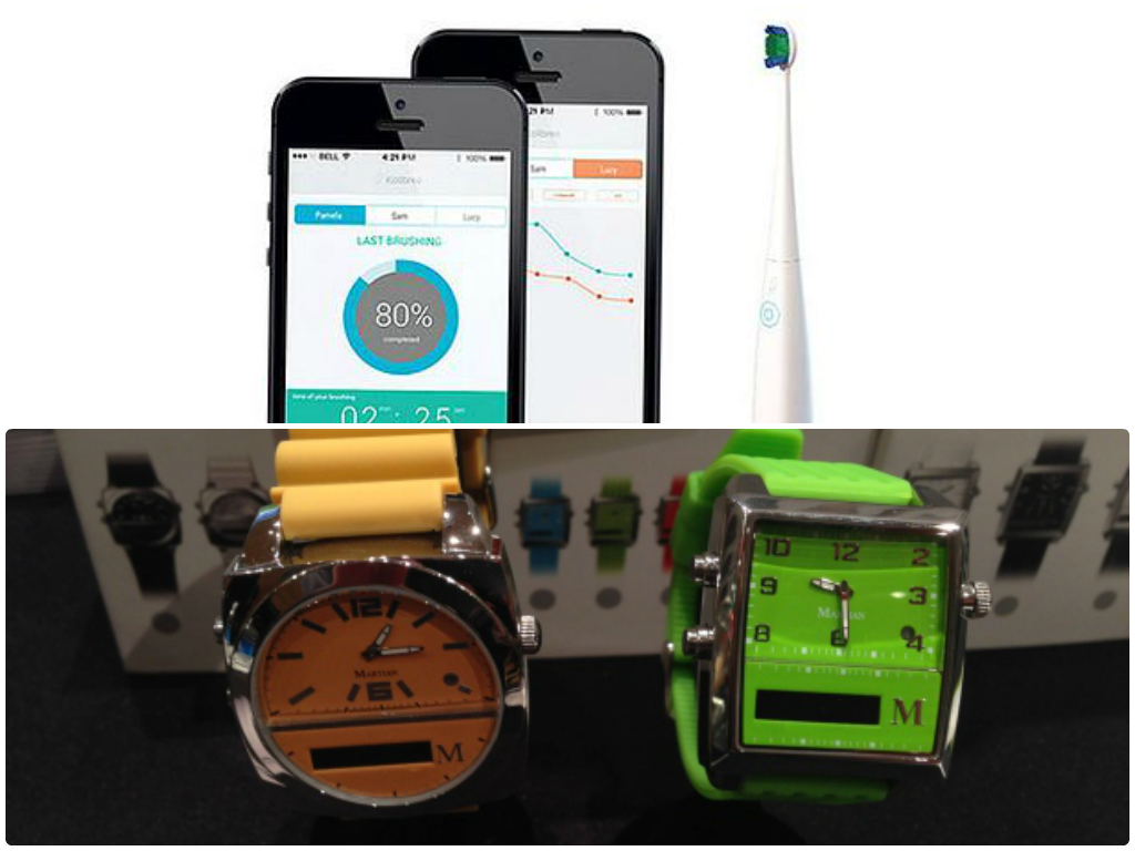 Quelle: Kolibree-Smart-Toothbrush; Smart Watch Martian Notifier_Marco Dettweiler