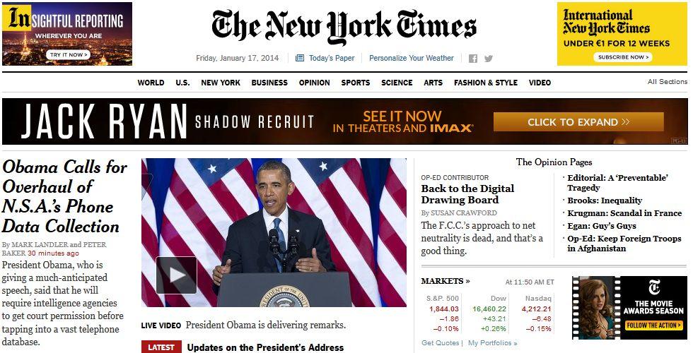 Sceenshot NYT