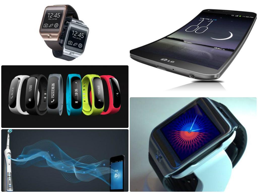 Quellen: LG Flex, Huawei TalkBand1, Samsung Gear 2, Oral-B Zahnbürste BrushWave