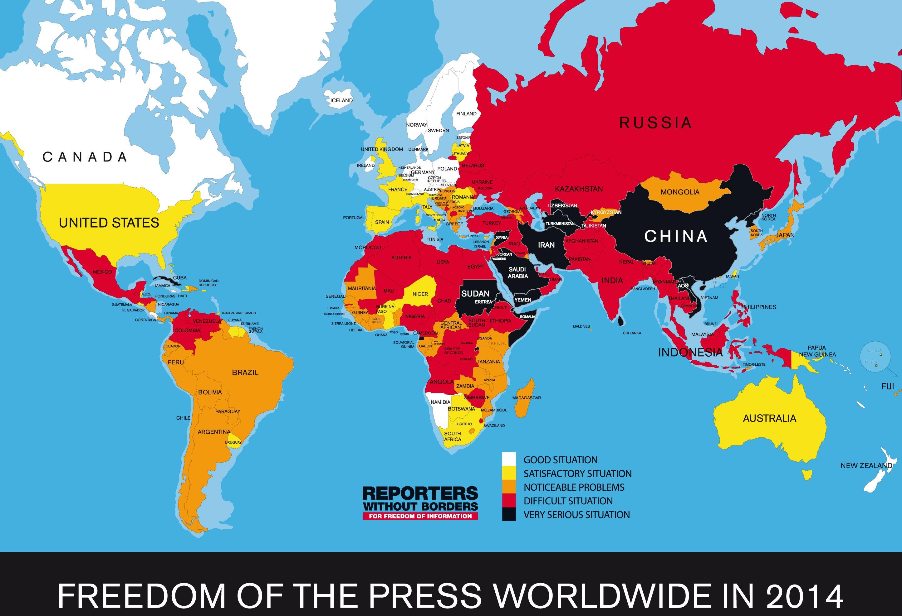 Quelle: Reporter ohne Grenzen pressefreiheit_weltweit_2014