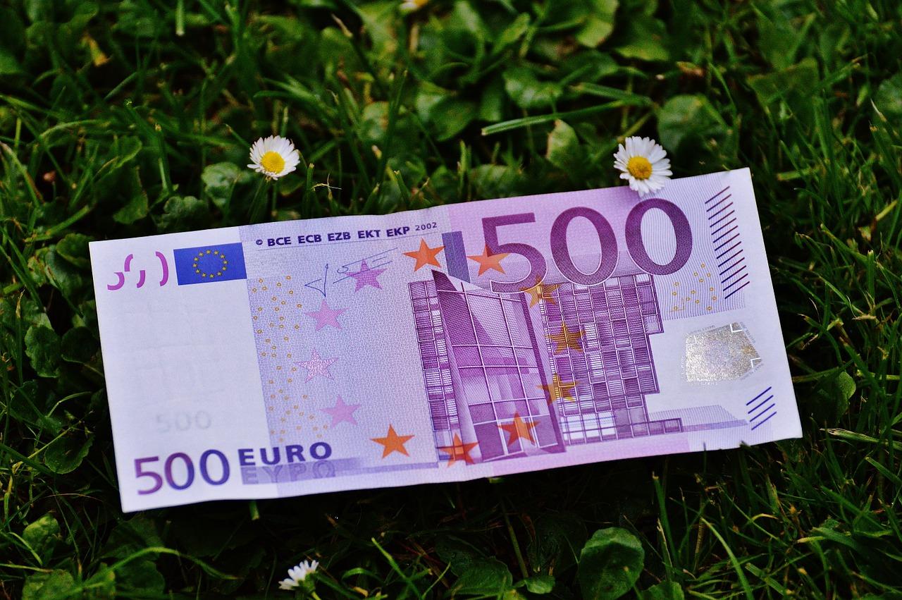 Start-ups Euro Geldschein Banknote Wiese