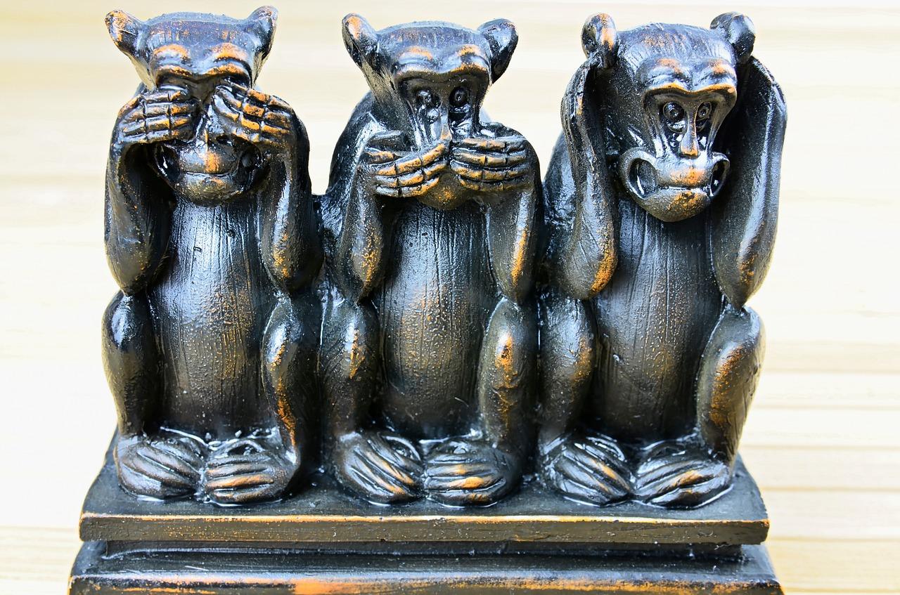 Start-ups Affen Hören Sehen Schweigen