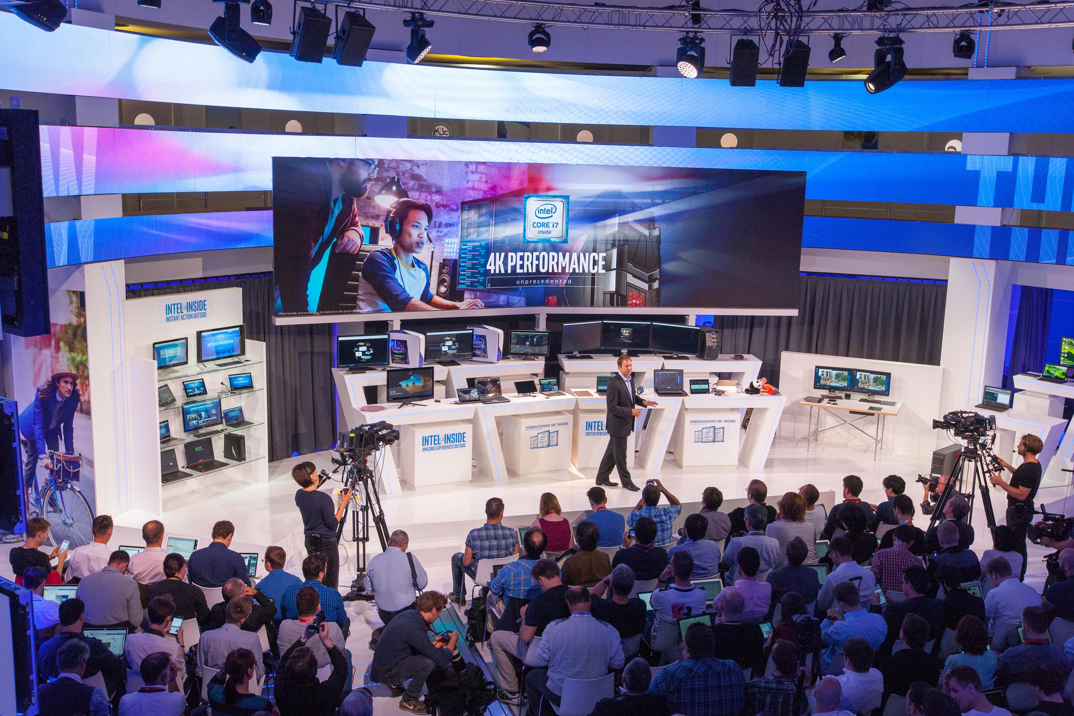 Intel Pressekonferenz - Moderation