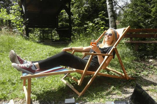 PR Trainee Studentenleben Gartenstuhl