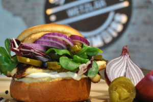 Faulpelztag Burger Bun Gemüse