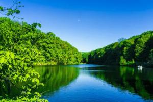 Faulpelztag See Badetag Ufer Bootfahren