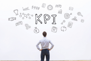 Influencer Netzwerke Kpi Wand Symbole Mann