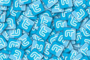 Twitter Unternehmen Buchstaben Symbole Grafik