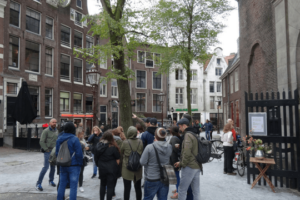Amsterdam Spaziergang team Gruppenreise