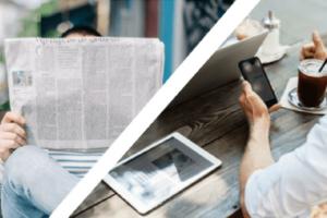Medienwandel Lesen Zeitung Tageszeitung Tablet Smartphone Vergleich Notebook