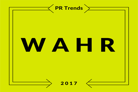 Digitale PR Trends, wahr
