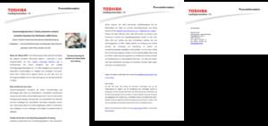 Pressemitteilung Schreiben Format Pressetext Toshiba