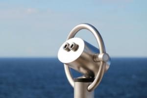 Pressemitteilung Schreiben Monitoring Fernrohr Fernsicht Beobachtung Meer Horizont