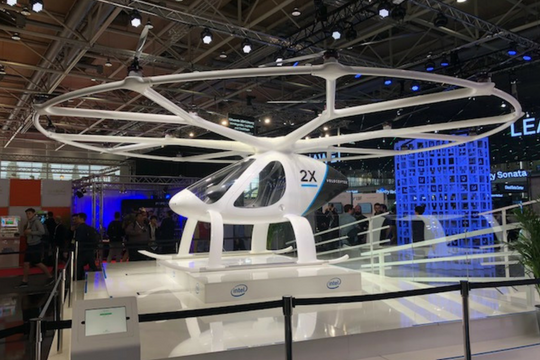 CeBIT, Volocopter, Intel Stand