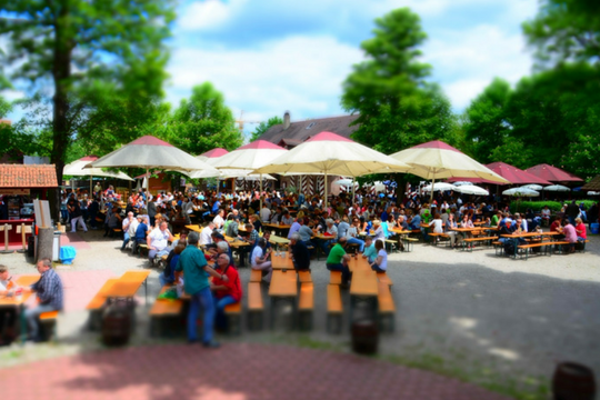 Public Viewing in Nürnberg, Tucherhof, Biergarten