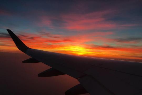 Flutlicht Agenturausflug, Heimflug von Rom