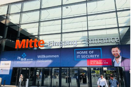 it-sa 2018 in Nürnberg, Messe, Eingang