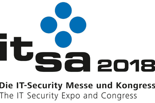 it-sa 2018 in Nürnberg, Messe, Logo