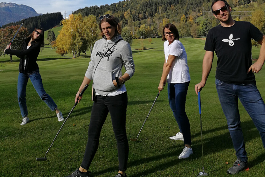Flutlicht Team Event, Golf, Saalfelden, Berge
