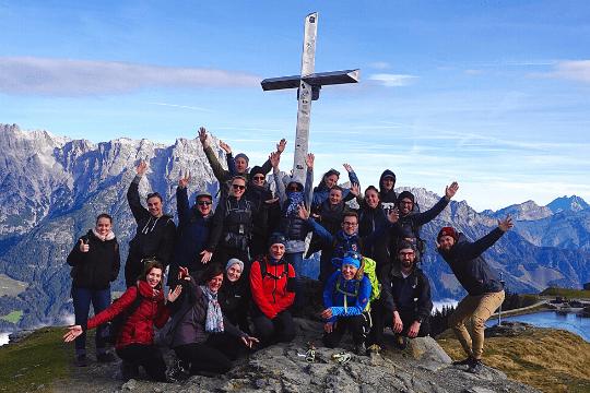 Flutlicht Team Event, Gipfel, Gruppenbild