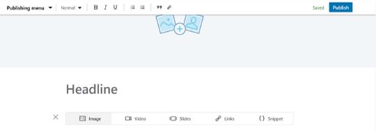 LinkedIn Pulse Artikel, Screenshot, Bild hinzufügen