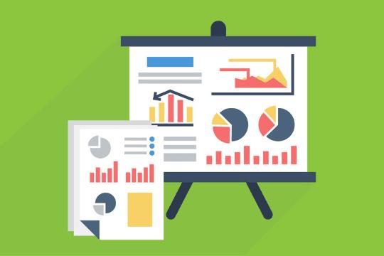 PR-Reporting erstellen, Grafiken, Tafel